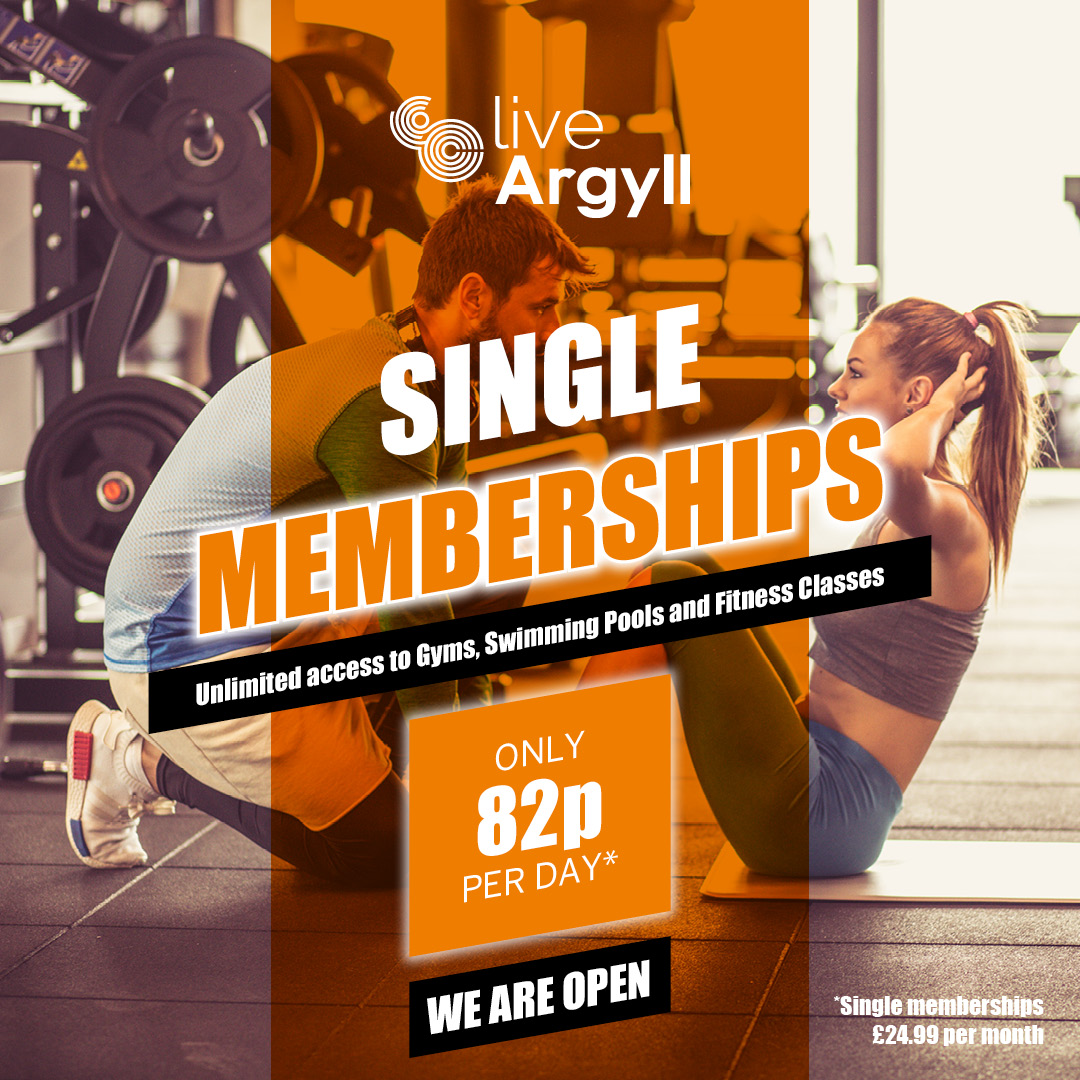 Couple working out, text overlaying reads single membership from just 82p per day